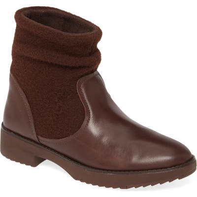 Fitflop Nisse Mixed Media Bootie, Brown