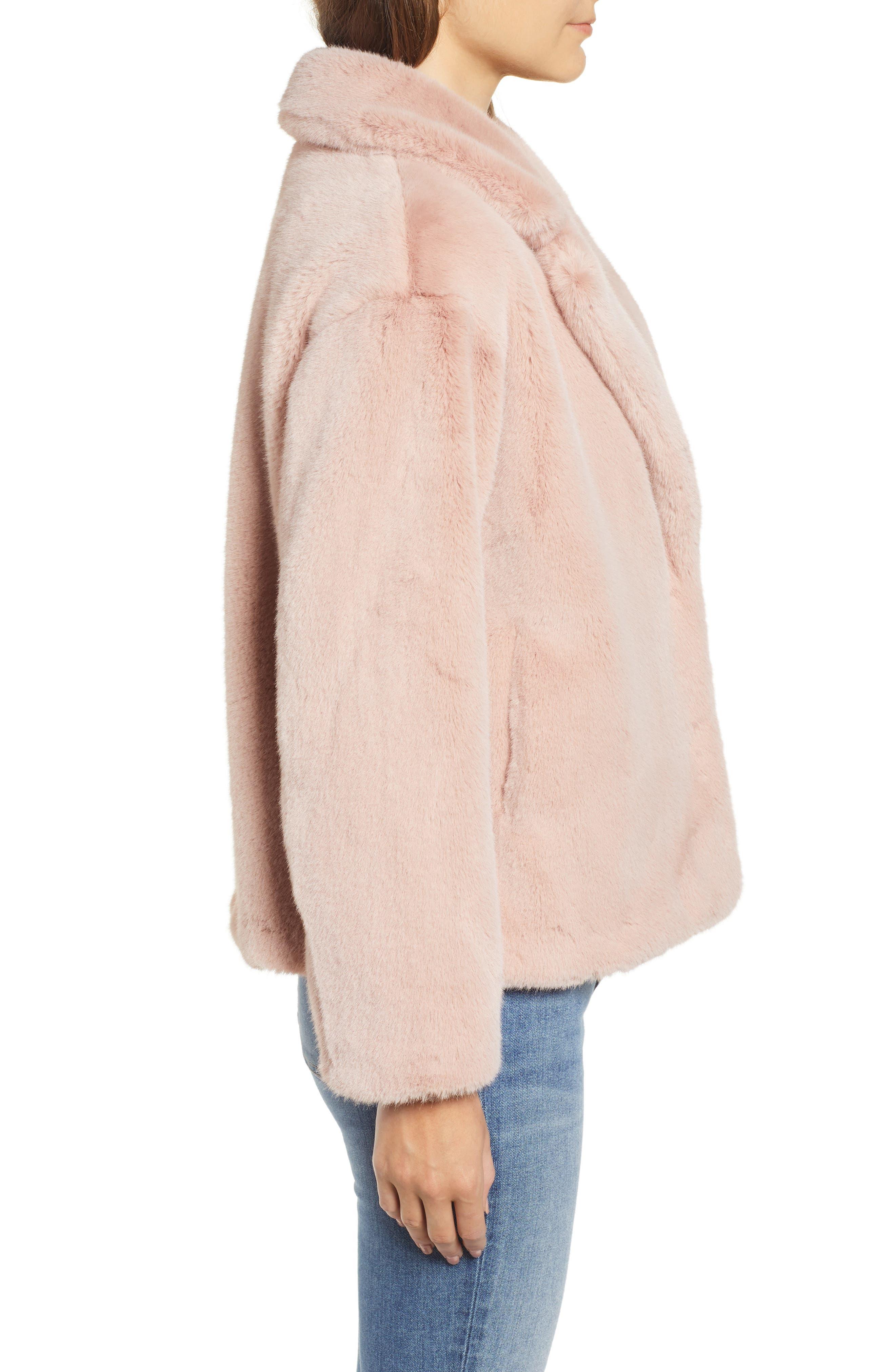 ,                             Luna Faux Fur Jacket,                             Alternate thumbnail 4, color,                             650
