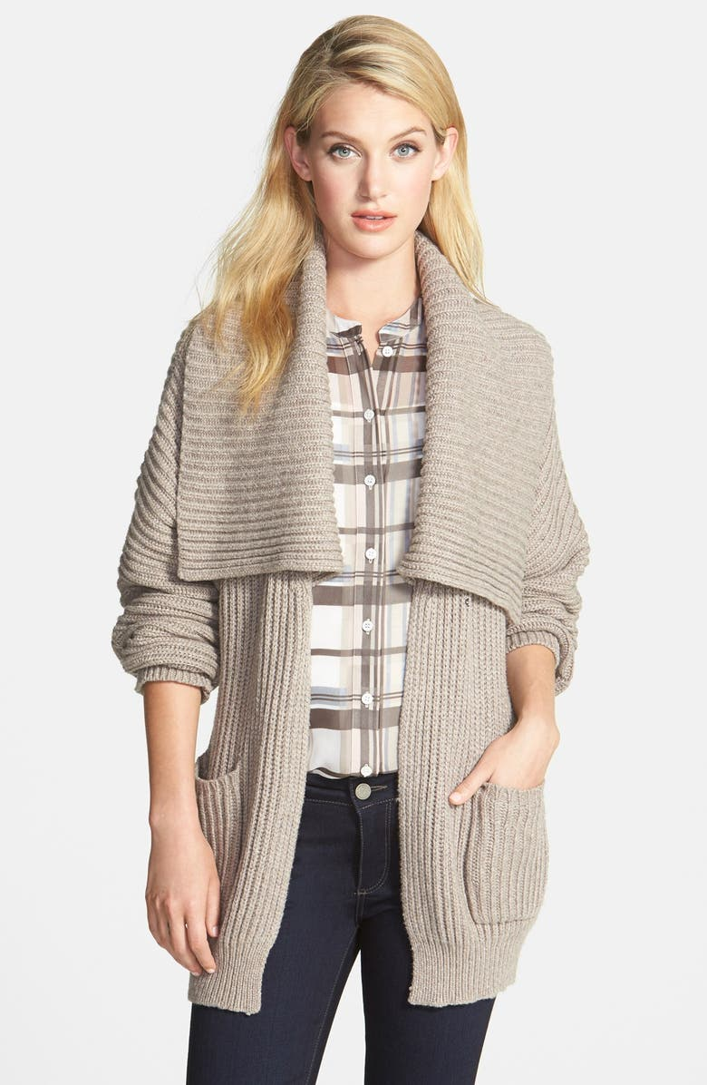 VINCE CAMUTO Oversize Shawl Collar Cardigan, Main, color, 205