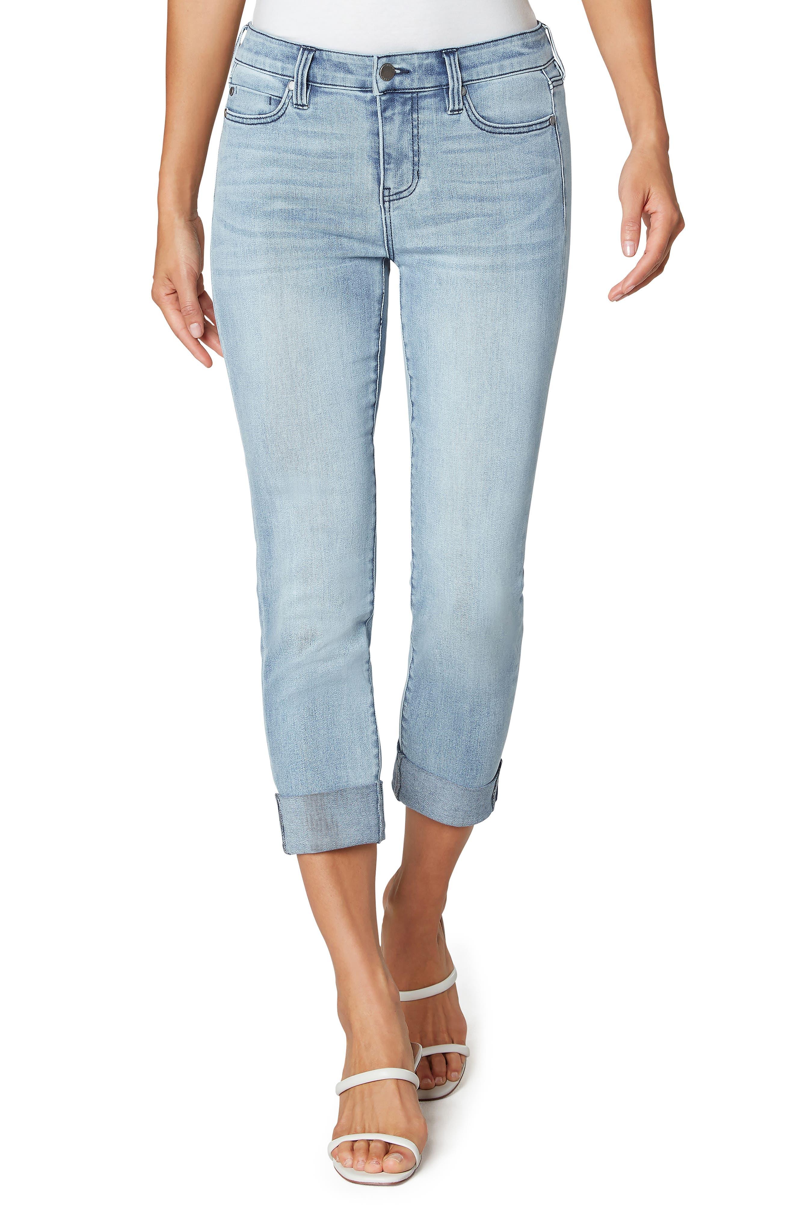 Charlie Crop Rolled Cuff Straight Leg Jeans