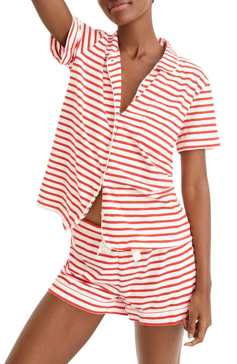 J Crew Dreamy Striped Short Pajamas