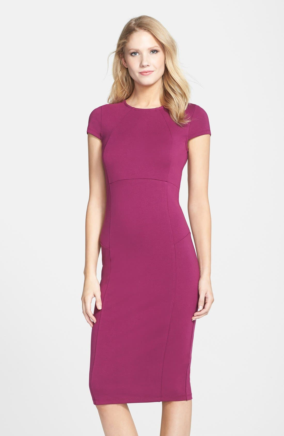 ,                             Ward Seamed Pencil Dress,                             Main thumbnail 52, color,                             508
