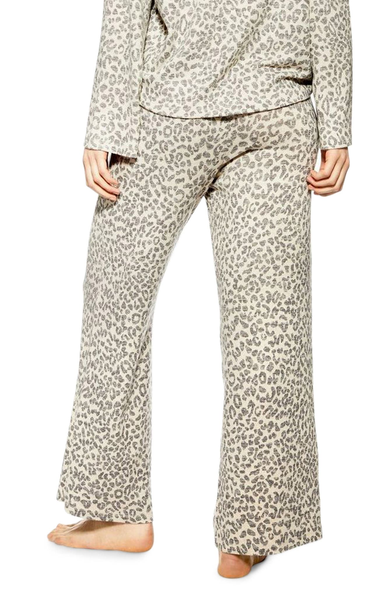 ,                             Animal Pajama Pants,                             Alternate thumbnail 2, color,                             BROWN MULTI