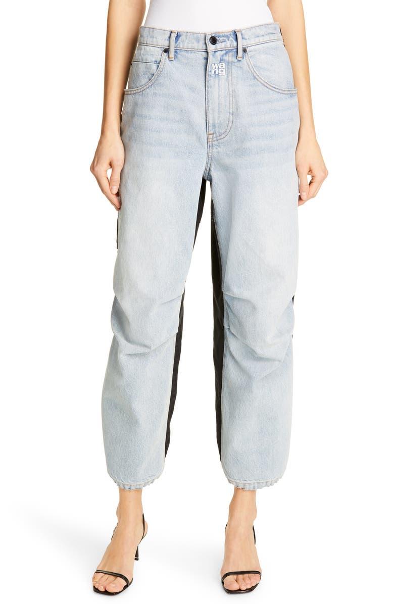 best loved top quality online retailer Denim x Alexander Wang Pack Mixed Media Pants | Nordstrom