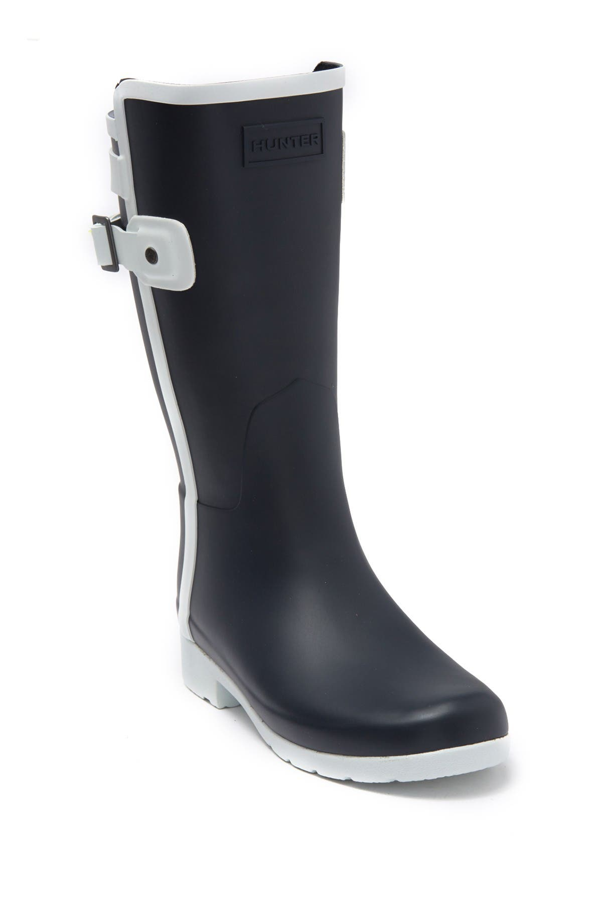 Image of Hunter Refined Slim Fit Contrast Short Rain Boot