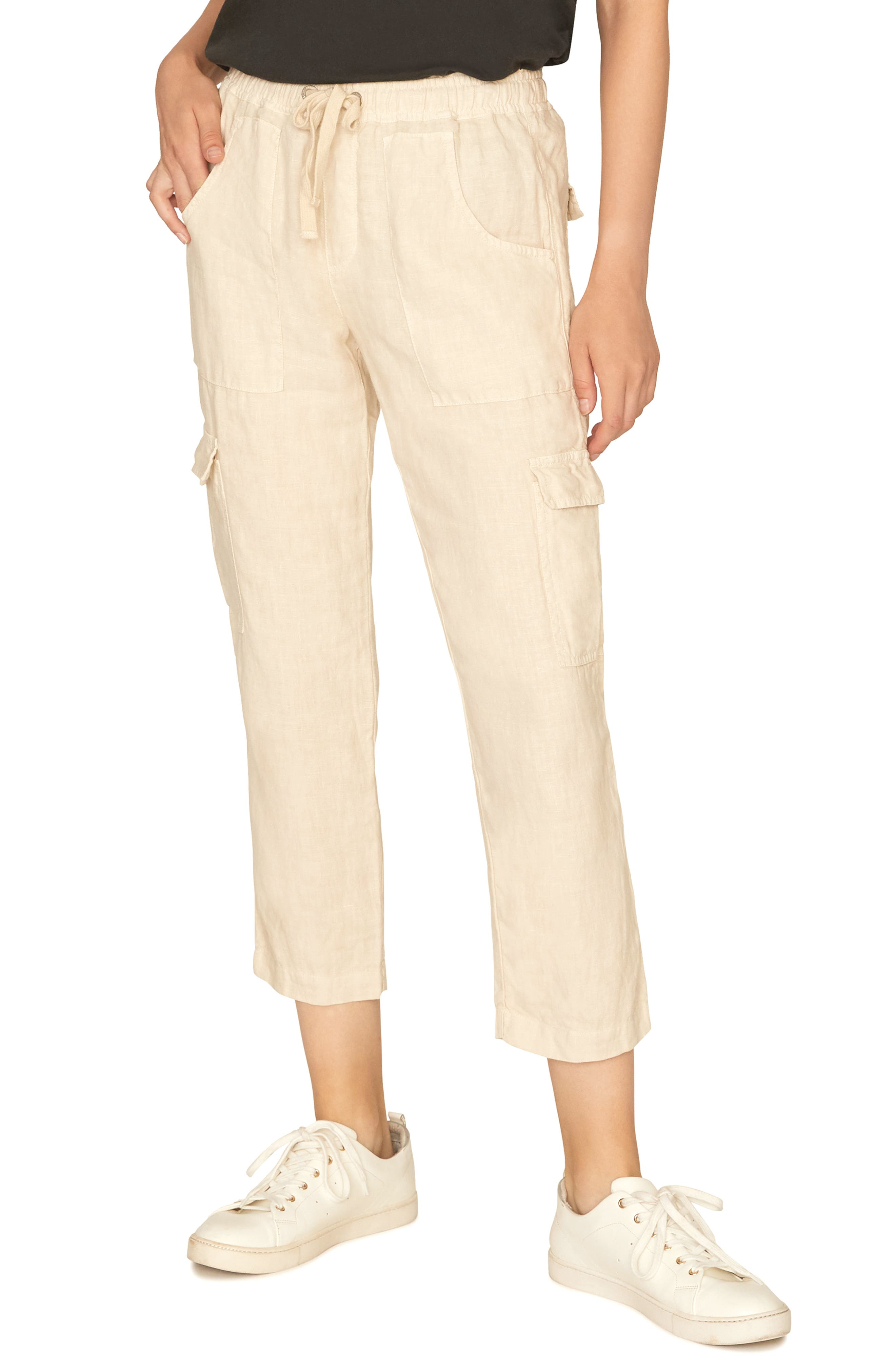 Sanctuary Discoverer Pull-On Cargo Pants, Ivory