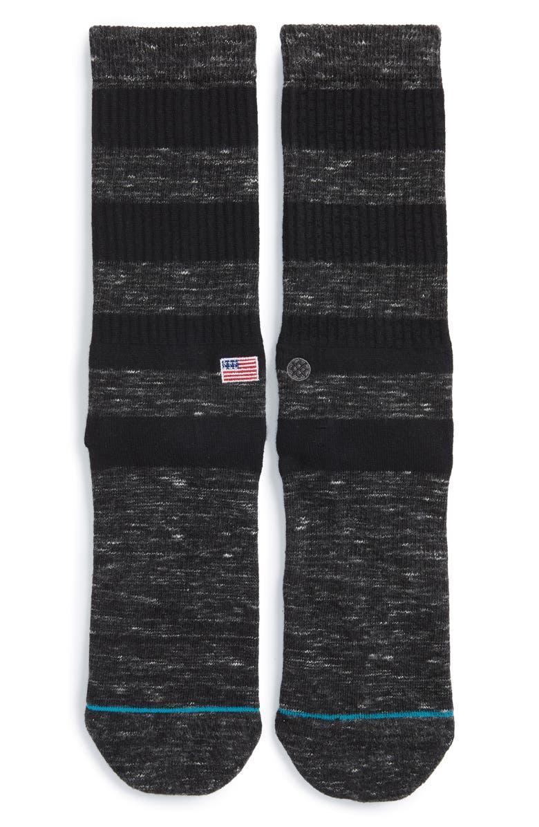STANCE Brice Socks, Main, color, BLACK