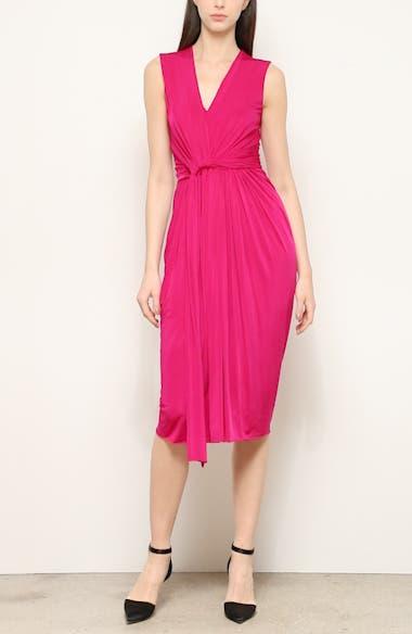 Twist Front Jersey Evening Dress, video thumbnail
