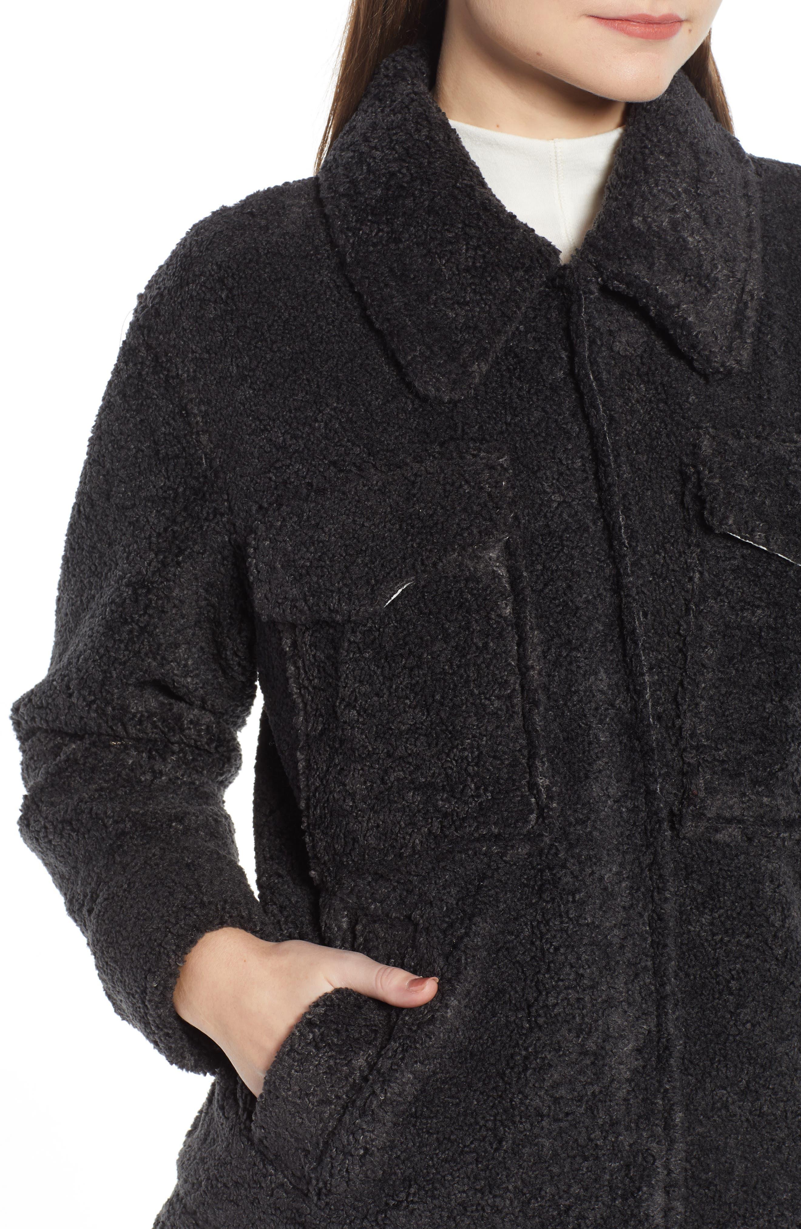 ,                             Faux Shearling Jacket,                             Alternate thumbnail 13, color,                             021