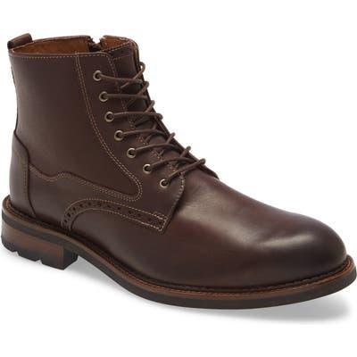 Johnston & Murphy Fullerton Waterproof Plain Toe Boot, Brown