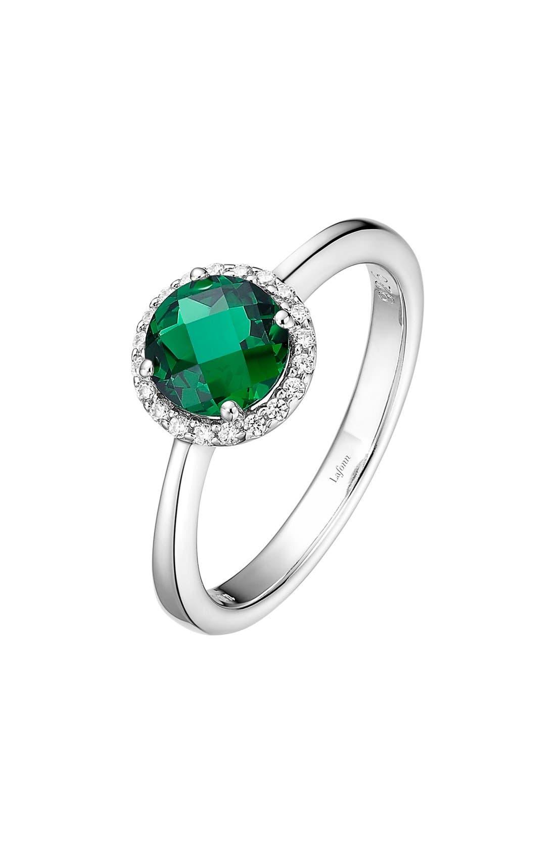 Birthstone Halo Ring