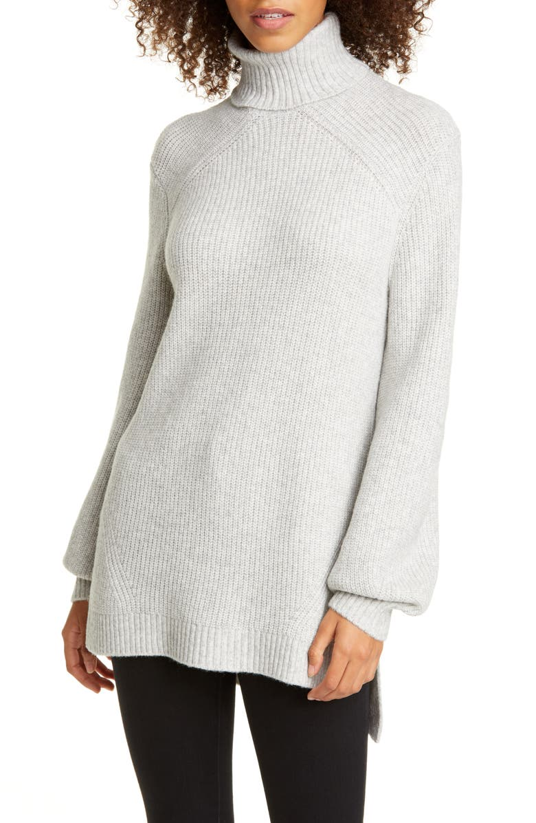 TED BAKER LONDON Sylinaa Turtleneck Sweater, Main, color, LIGHT GREY