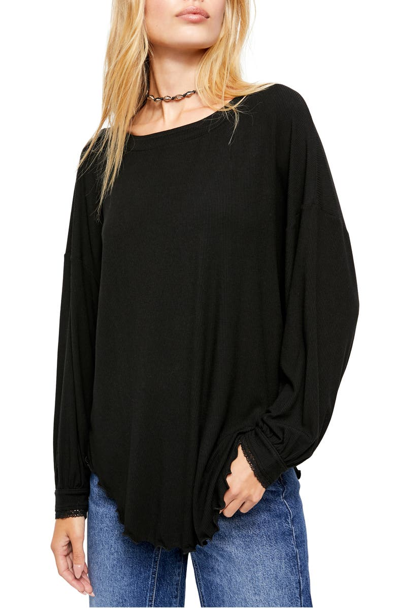 FREE PEOPLE Shimmy Shake Top, Main, color, BLACK COMBO