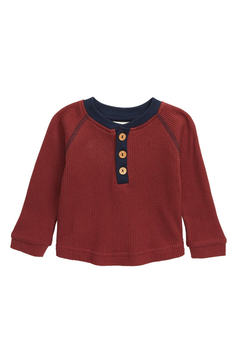 CITY MOUSE Waffle Knit Organic Cotton Henley, Main, color, 600