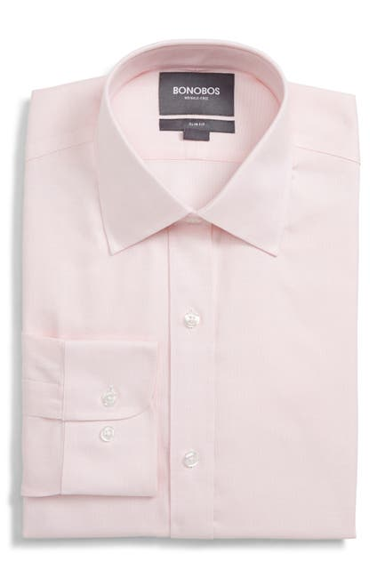 Image of Bonobos Daily Grind Semi Spread Collar Slim Fit Dress Shirt