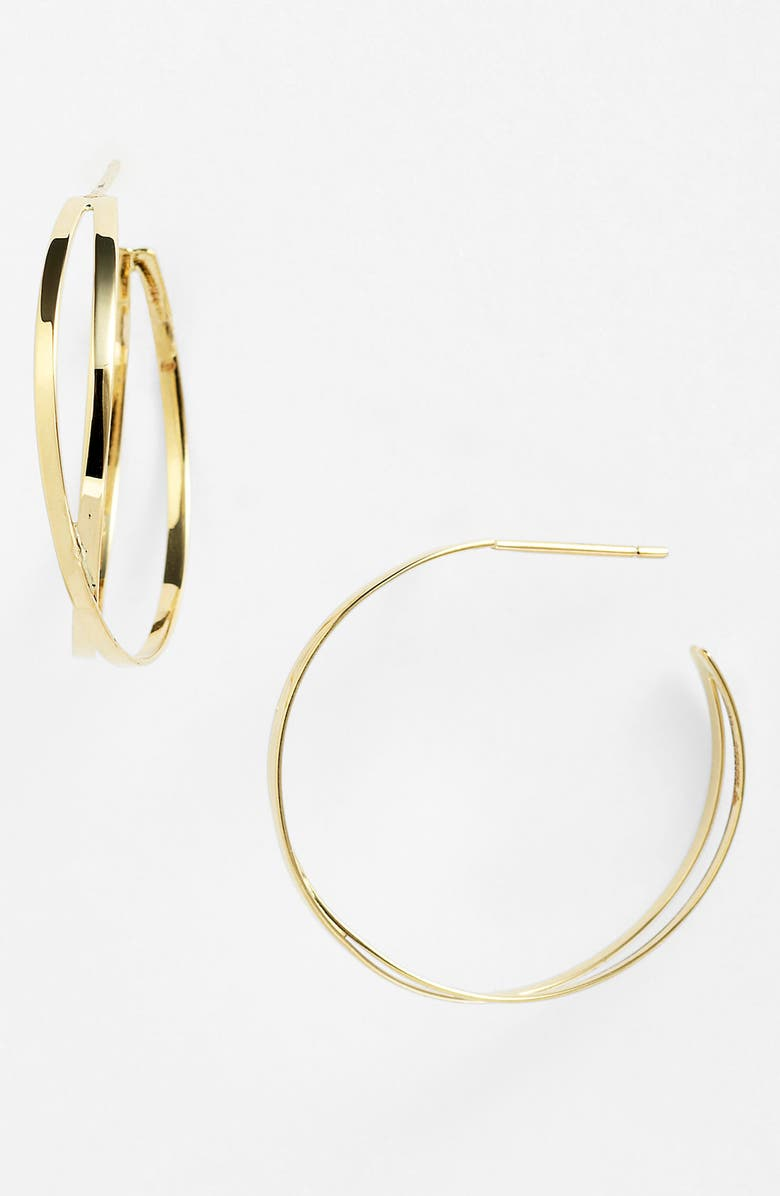 LANA JEWELRY 'White Night' Hoop Earrings, Main, color, 710
