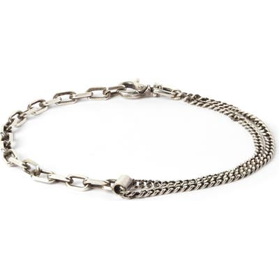 Title Of Work Anchor & Curb Chain Bracelet