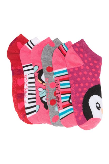 Image of Betsey Johnson Mixed Print Low Cut Socks - Pack of 6