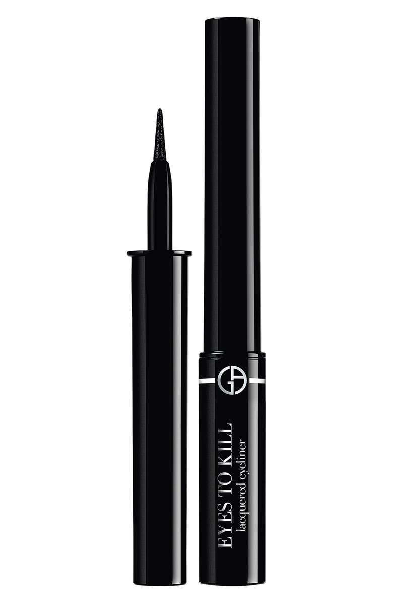 GIORGIO ARMANI Eyes to Kill Lacquered Liquid Eyeliner, Main, color, ULTRA-BLACK
