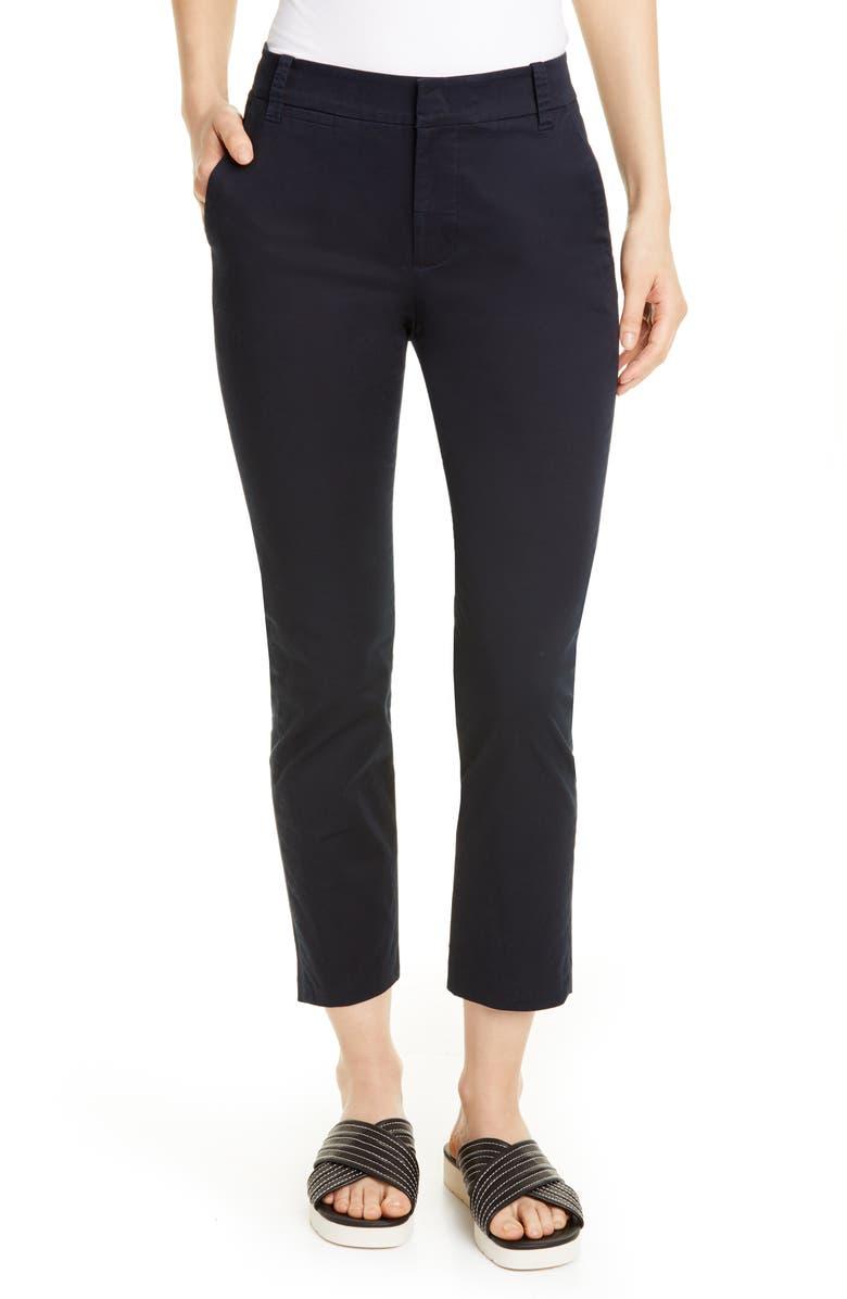VINCE Coin Pocket Stretch Cotton Chino Pants, Main, color, COASTAL