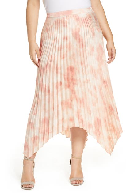 Vince Camuto Skirts VAPOR WHISPER ASYMMETRICAL PLEATED SKIRT