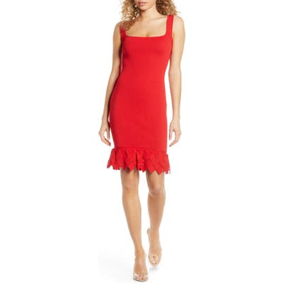 Ali & Jay Nomad Nights Body-Con Sweater Dress, Red