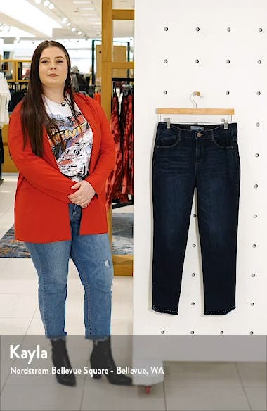 Ab-Solution High Waist Fray Hem Ankle Skinny Jeans, sales video thumbnail