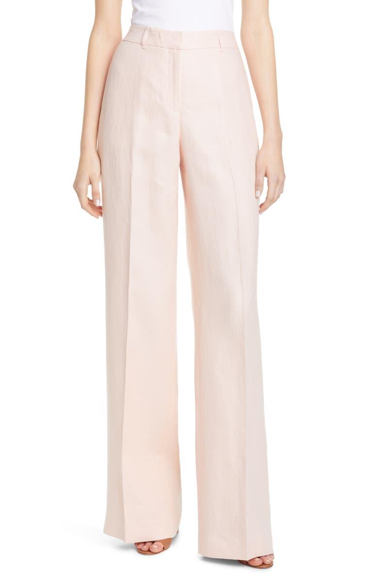 LAFAYETTE 148 NEW YORK Dalton Wide Leg Linen Pants, Main, color, 650