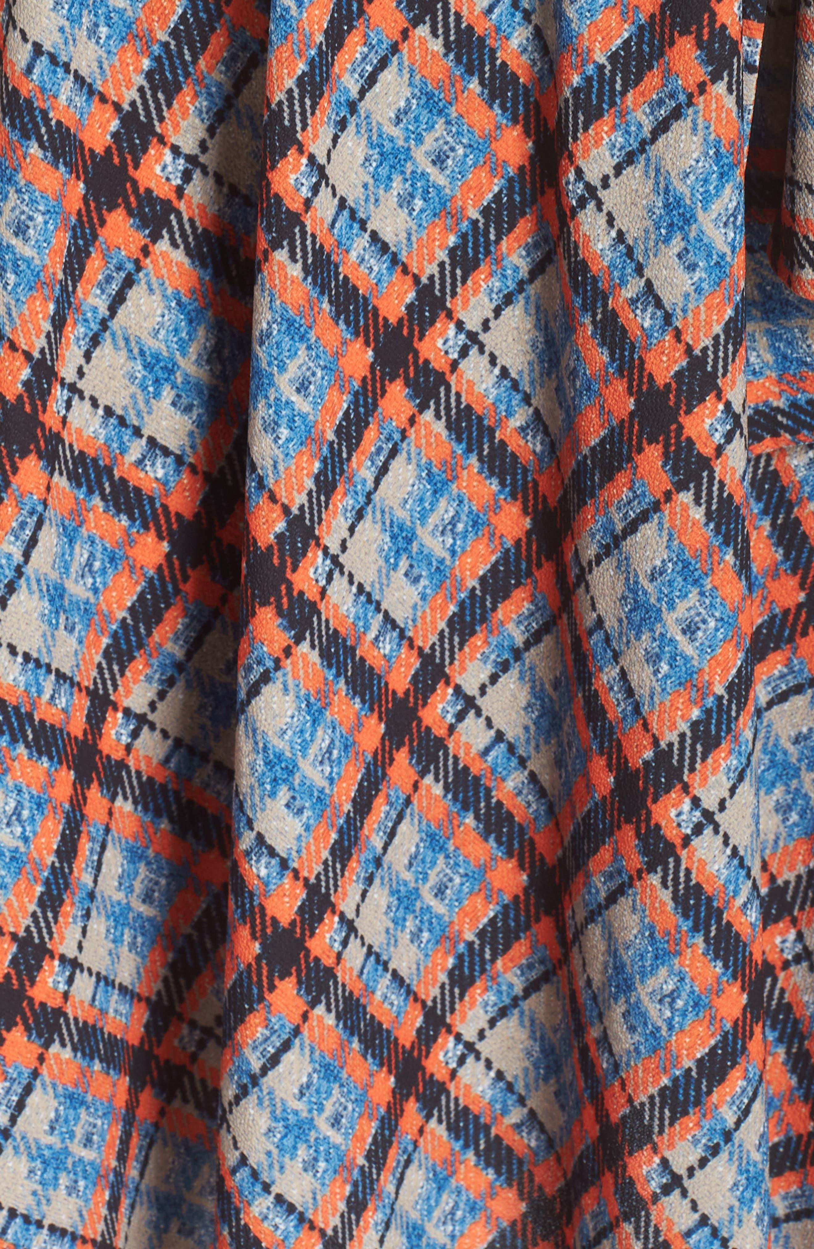 ,                             Plaid Faux Wrap Dress,                             Alternate thumbnail 7, color,                             810