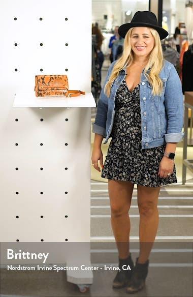 Blair Snake Embossed Faux Leather Belt Bag, sales video thumbnail