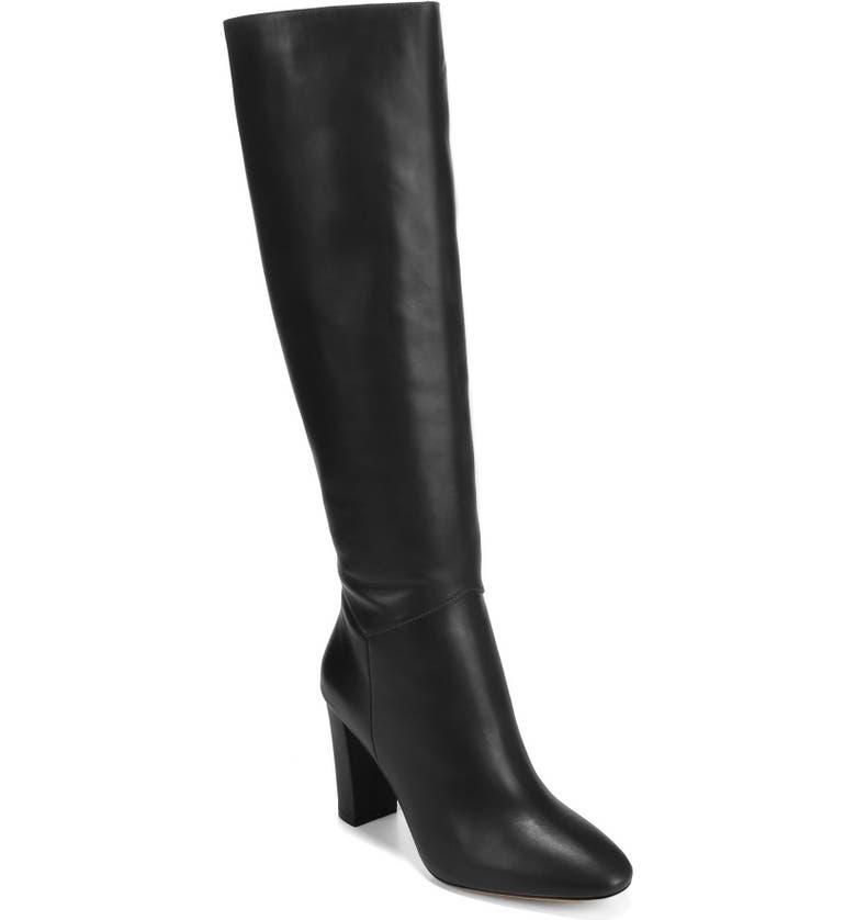 VINCE Vita Knee High Boot, Main, color, BLACK