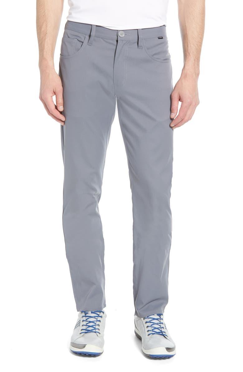 TRAVISMATHEW Level Up Slim Fit Pants, Main, color, GREY