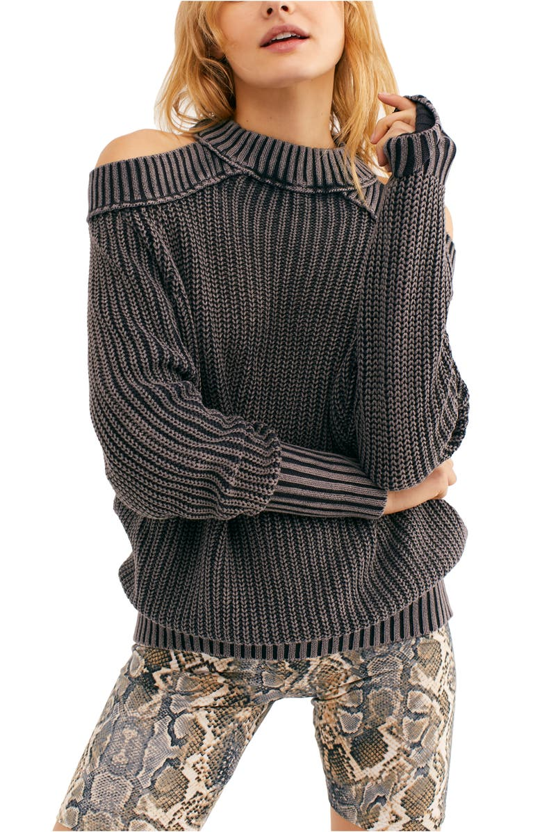 Half Moon Bay Cold Shoulder Sweater by Free People