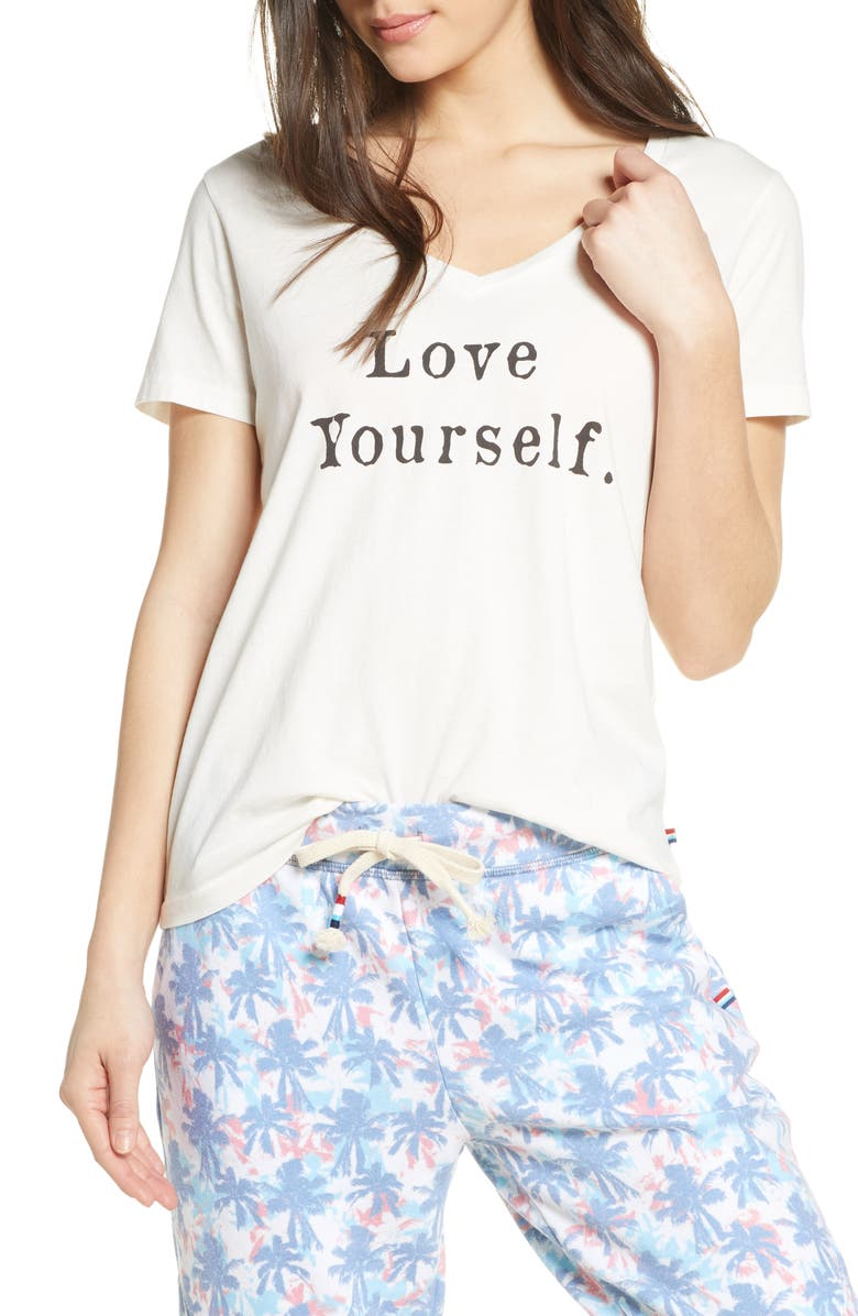 SOL ANGELES Love Yourself T-Shirt, Main, color, 100