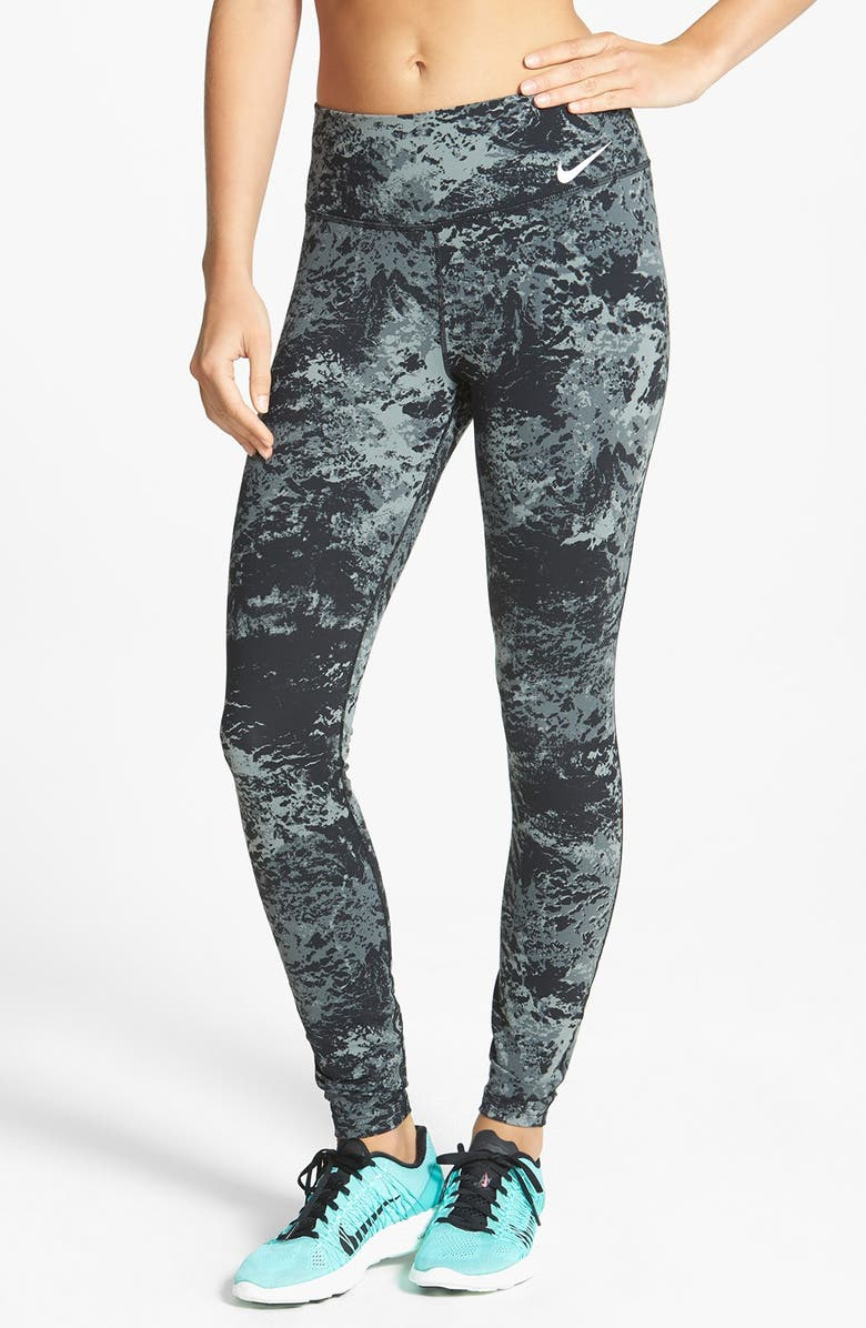 NIKE 'Legendary' Print Dri-FIT Tights, Main, color, 010
