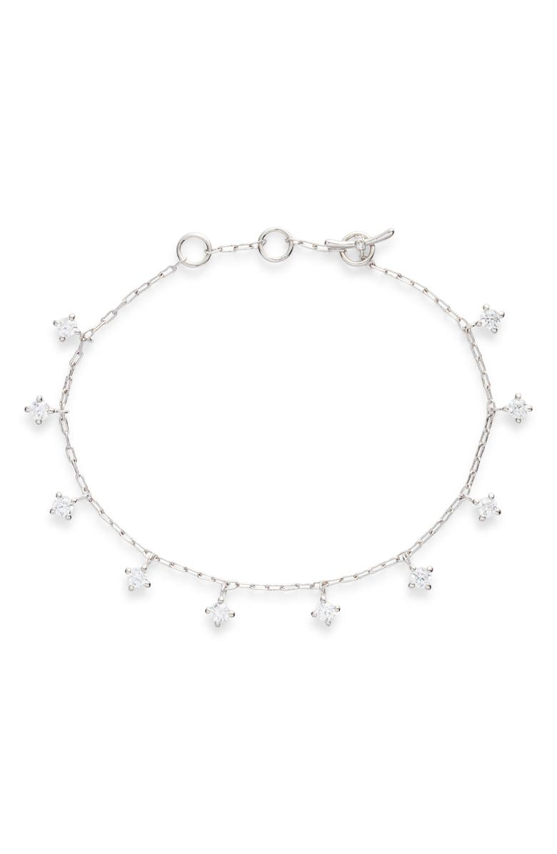 NADRI Issa Shaky Toggle Bracelet, Main, color, RHODIUM