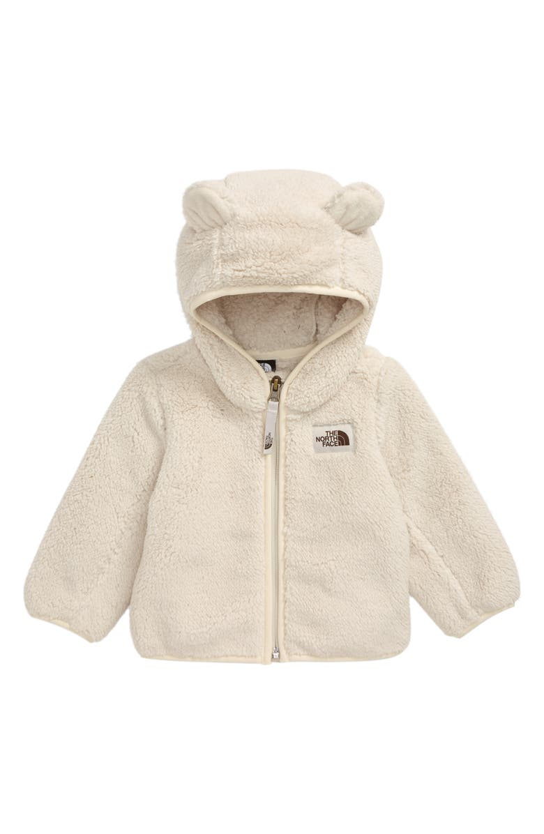 THE NORTH FACE Campshire Bear High Pile Fleece Zip Hoodie, Main, color, VINTAGE WHITE