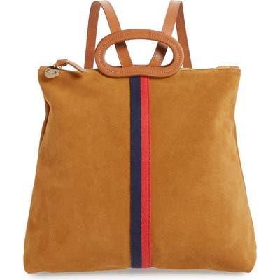 Clare V. Marcelle Suede Backpack - Brown