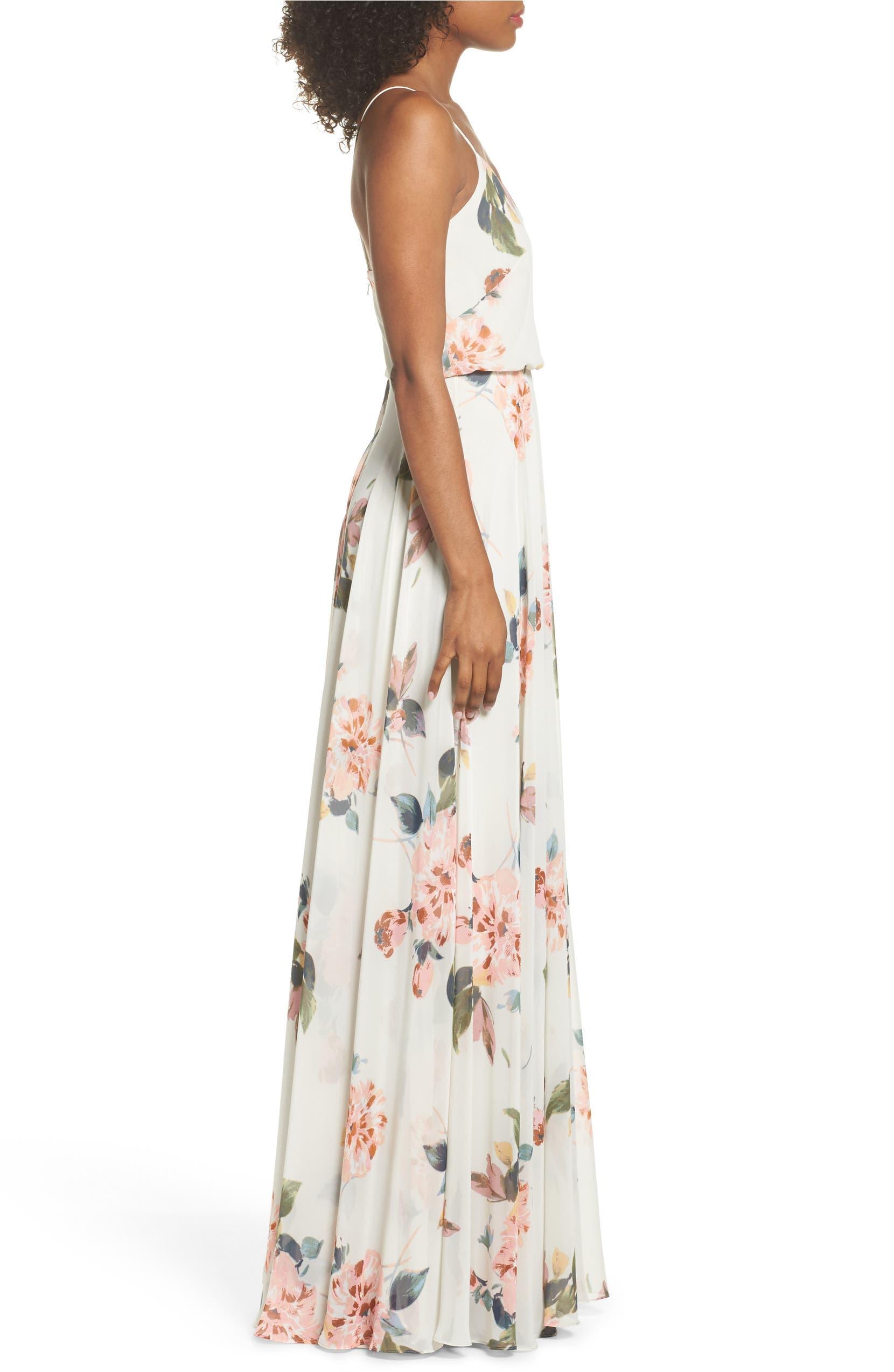 256237f89c17 Jenny Yoo Inesse V-Neck Chiffon Gown | Nordstrom