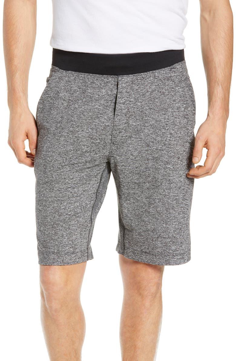 SODO 425 Stretch Knit Shorts, Main, color, HEATHER BLACK