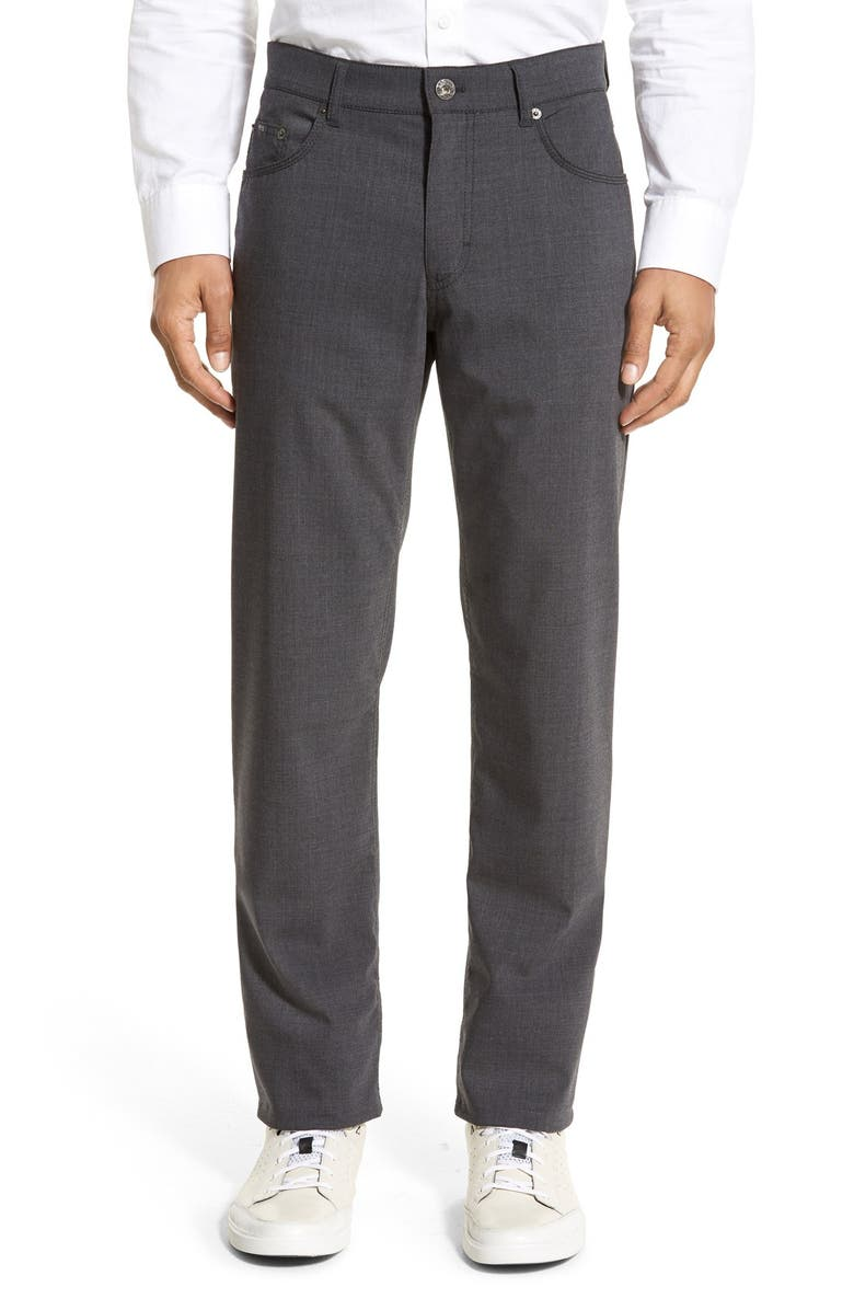 BRAX 'Manager' Five-Pocket Wool Pants, Main, color, GRAPHITE