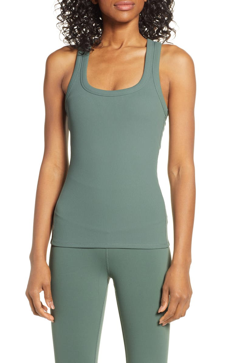 ALO Rib Support Tank, Main, color, MOSS