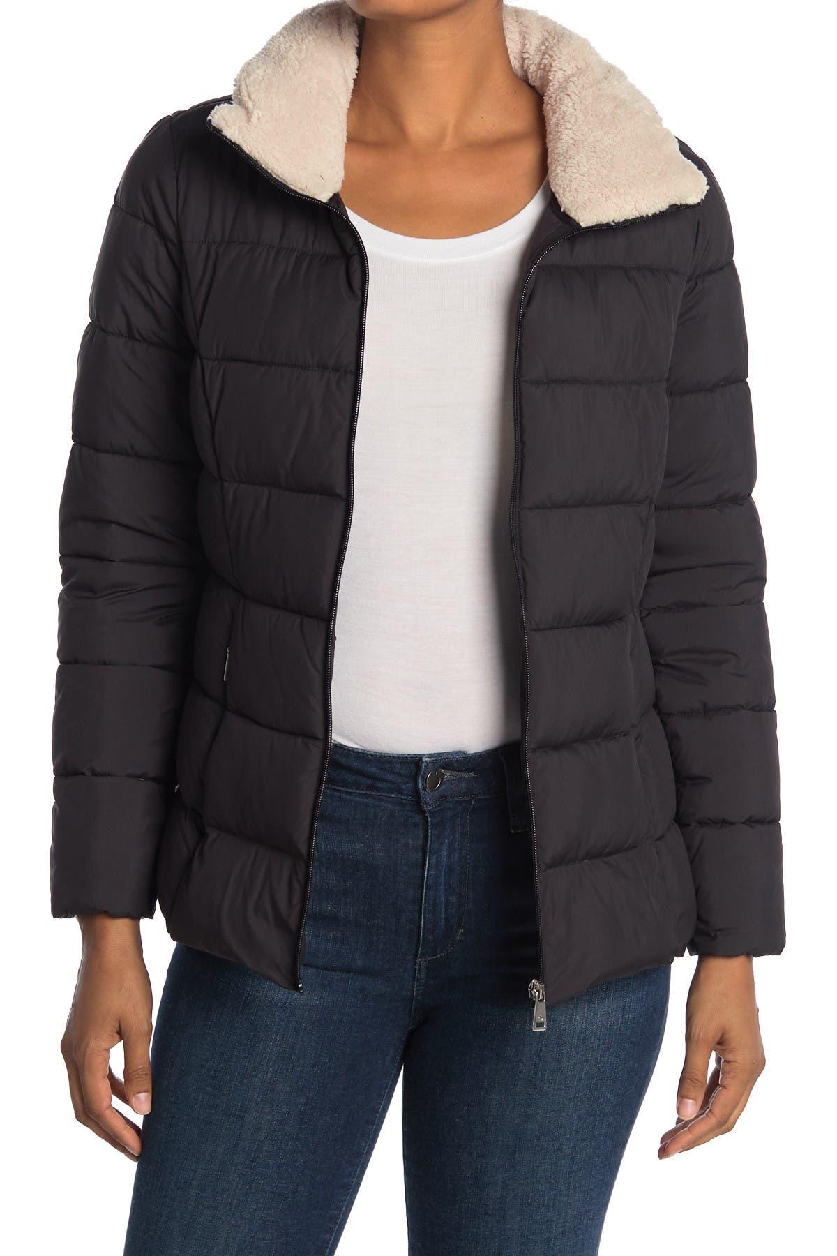Image of Lauren Ralph Lauren Faux Fur Collar Puffer Jacket