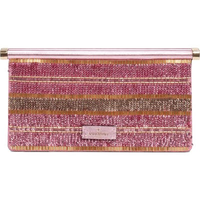 Valentino Garavani Small Carry Secrets Embellished Clutch - Pink