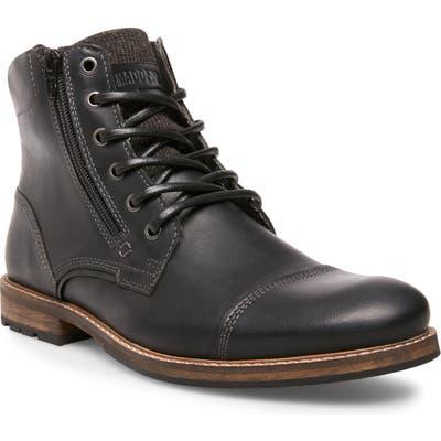 Steve Madden Bayun Cap Toe Boot, Black