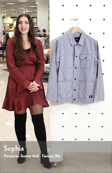 Stripe Drill Denim Chore Coat, sales video thumbnail