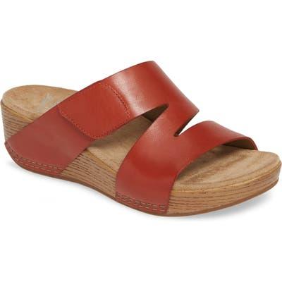 Dansko Lacee Slide Sandal- Red