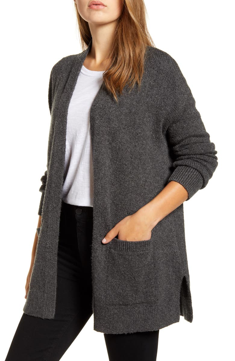 LUCKY BRAND Easy Open Front Long Cardigan, Main, color, 020