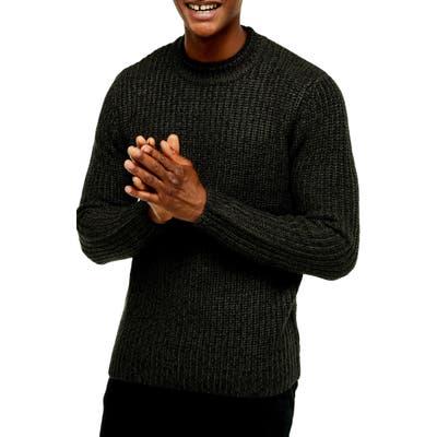 Topman Chunky Crewneck Sweater, Green