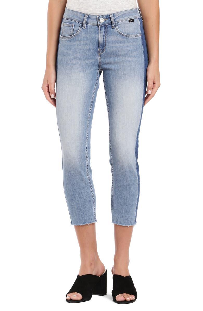 MAVI JEANS Ada Side Stripe Crop Boyfriend Jeans, Main, color, 420